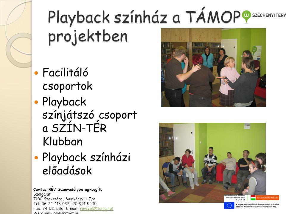 Playback színház a TÁMOP projektben