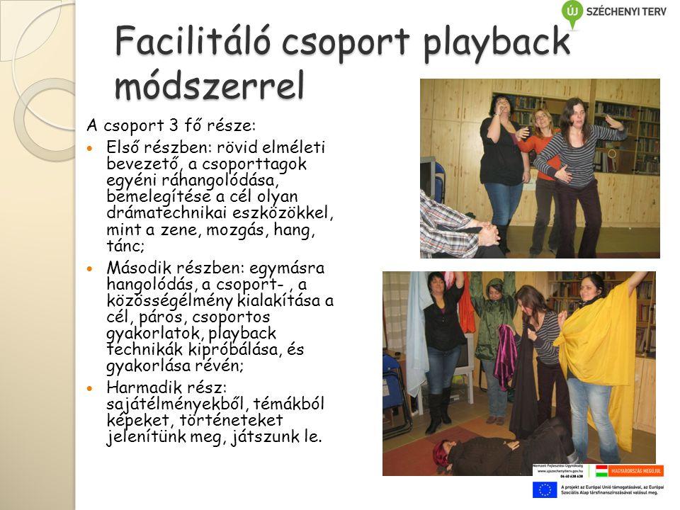 Facilitáló csoport playback módszerrel