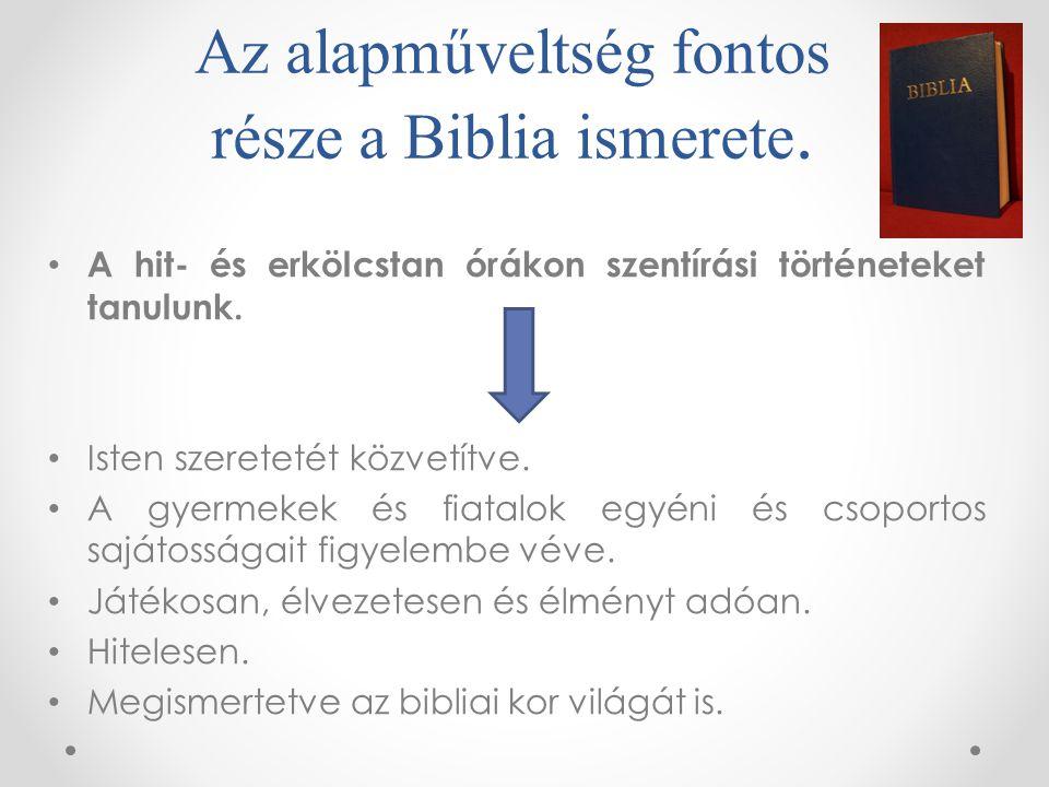 Az alapműveltség fontos része a Biblia ismerete.