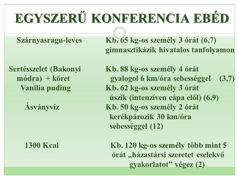 EGYSZERŰ KONFERENCIA EBÉD