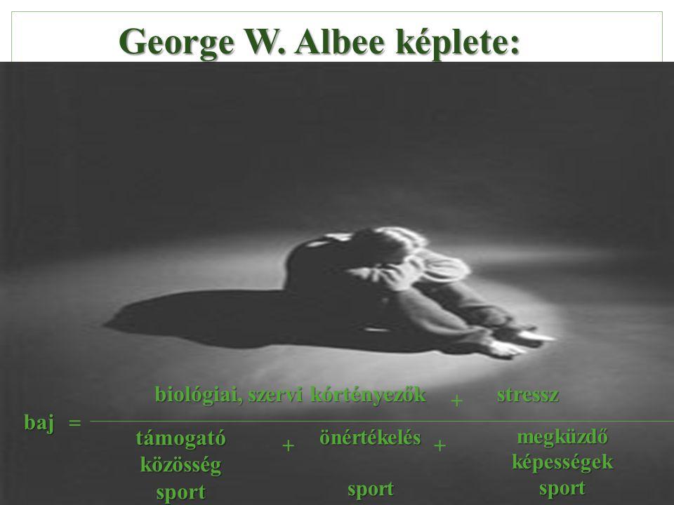 George W. Albee képlete: biológiai, szervi kórtényezők