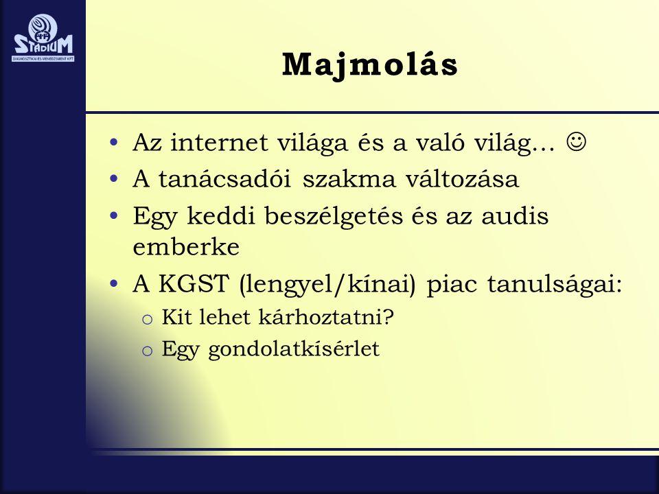 Majmolás Az internet világa és a való világ… 