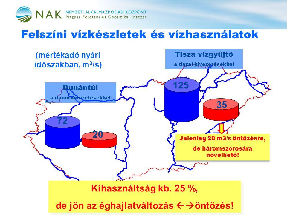 Felszíni vízkészletek és vízhasználatok