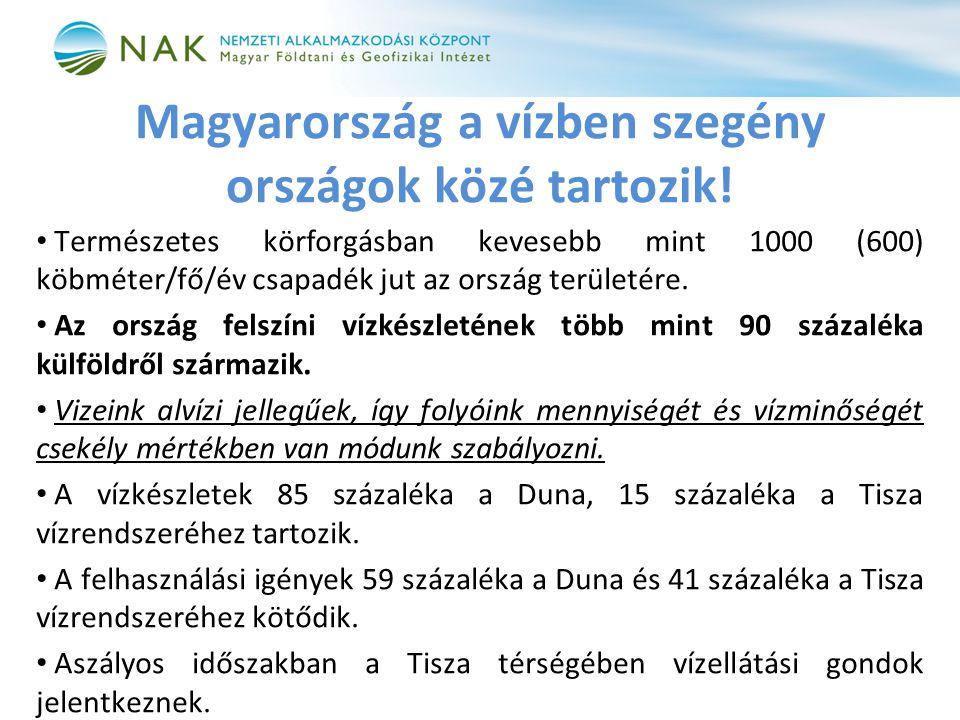 Magyarország a vízben szegény országok közé tartozik!