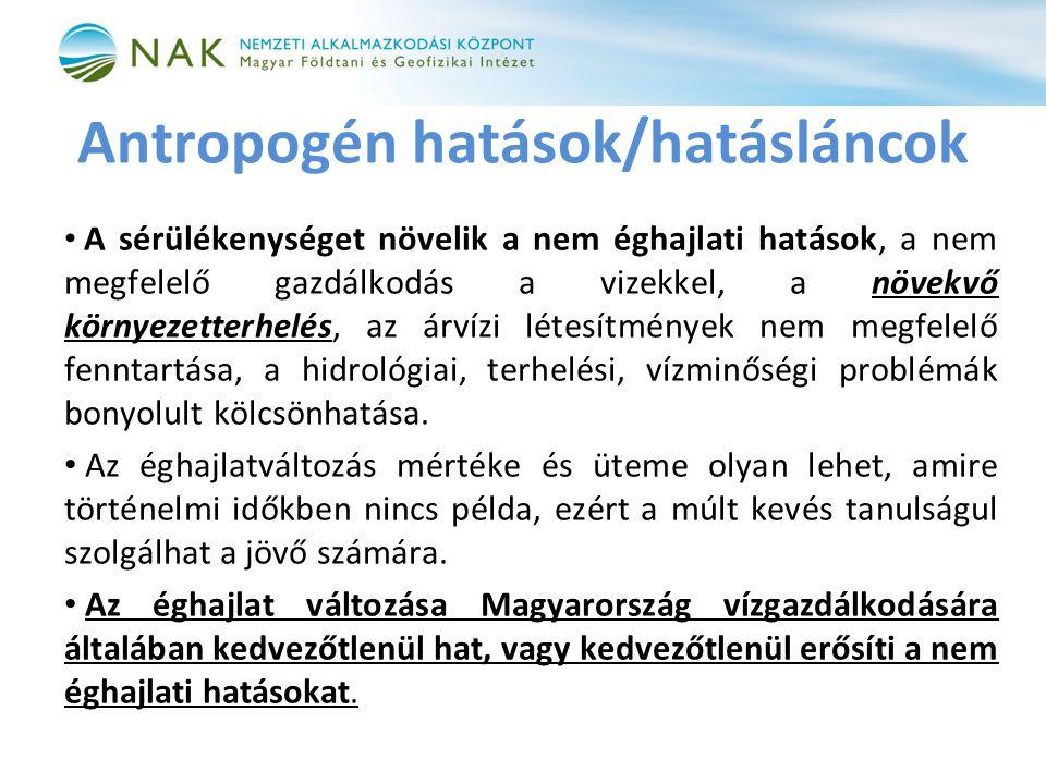 Antropogén hatások/hatásláncok