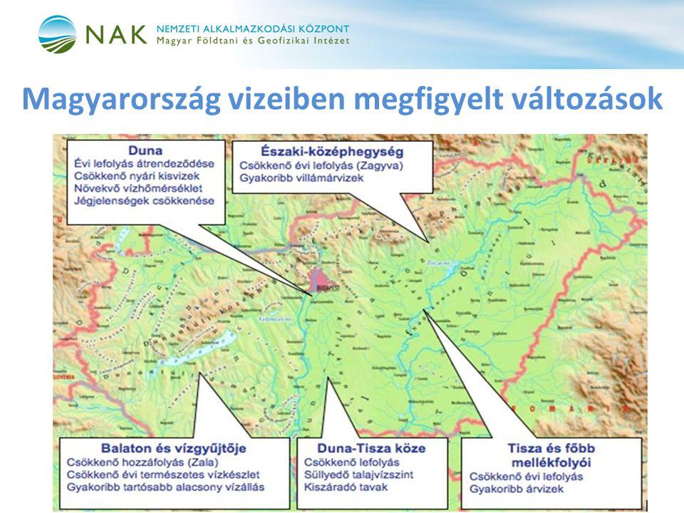 Magyarország vizeiben megfigyelt változások
