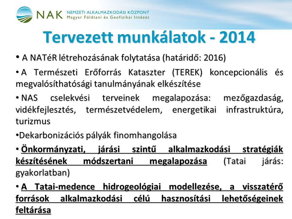 Tervezett munkálatok - 2014
