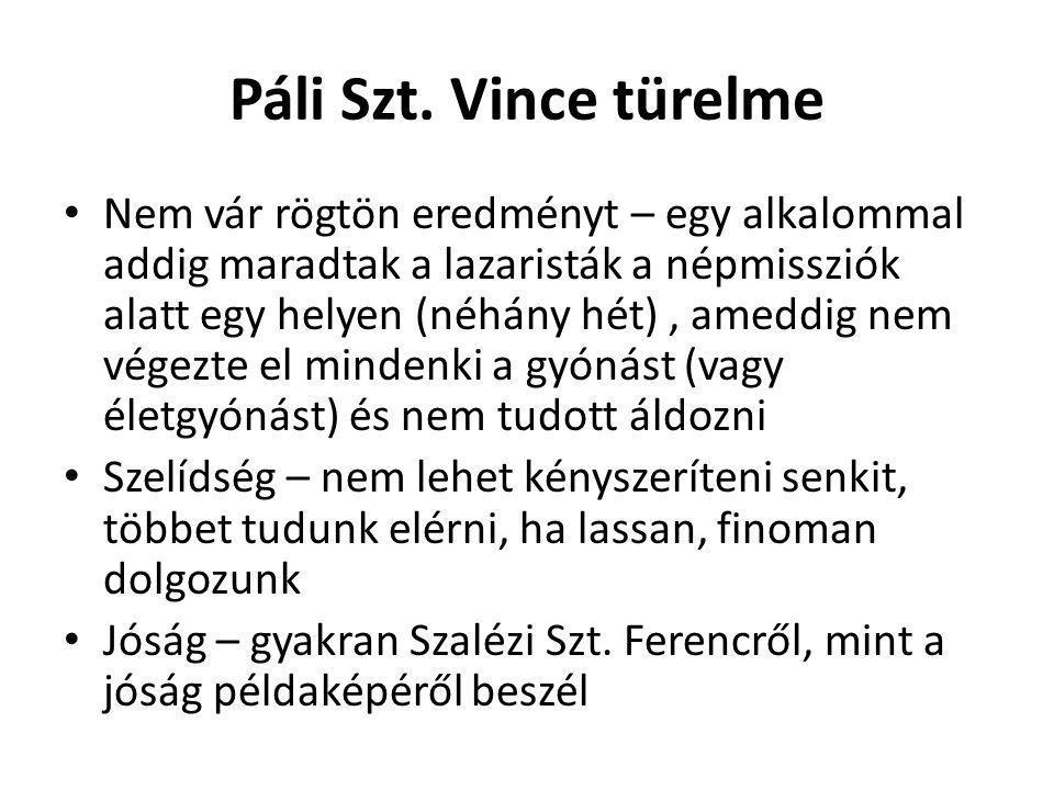 Páli Szt. Vince türelme