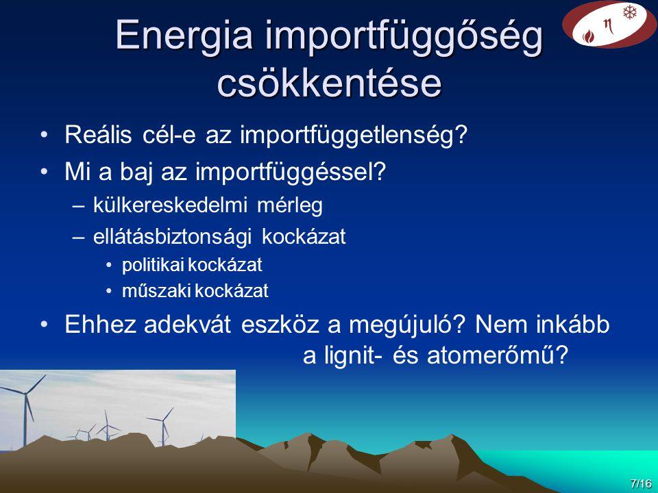 Energia importfüggőség csökkentése