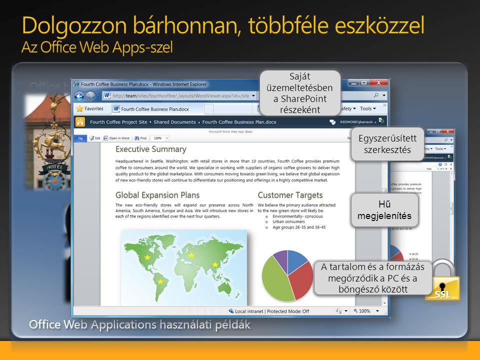 Dolgozzon bárhonnan, többféle eszközzel Az Office Web Apps-szel