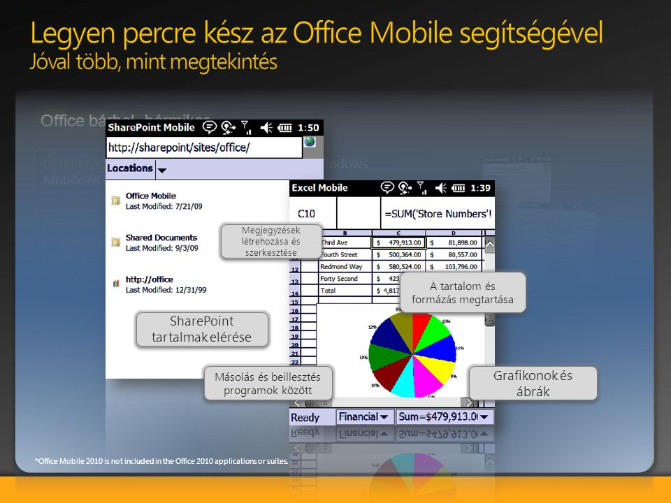 Legyen percre kész az Office Mobile segítségével Jóval több, mint megtekintés