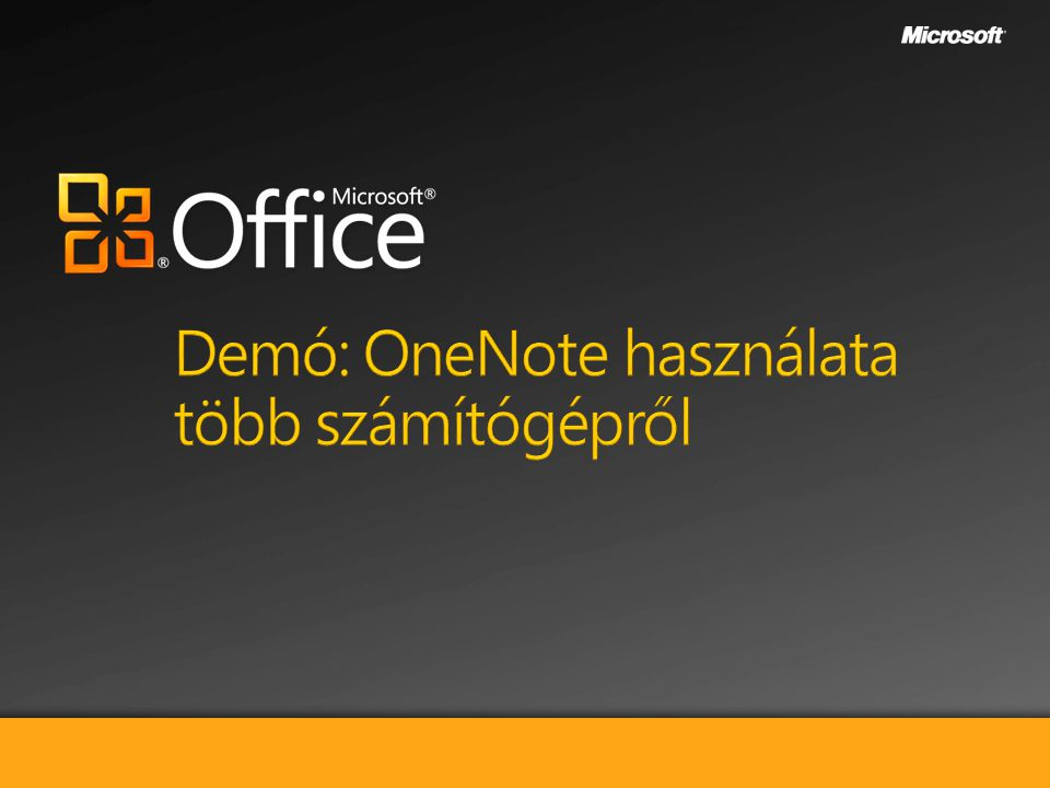 Demó: OneNote használata több számítógépről