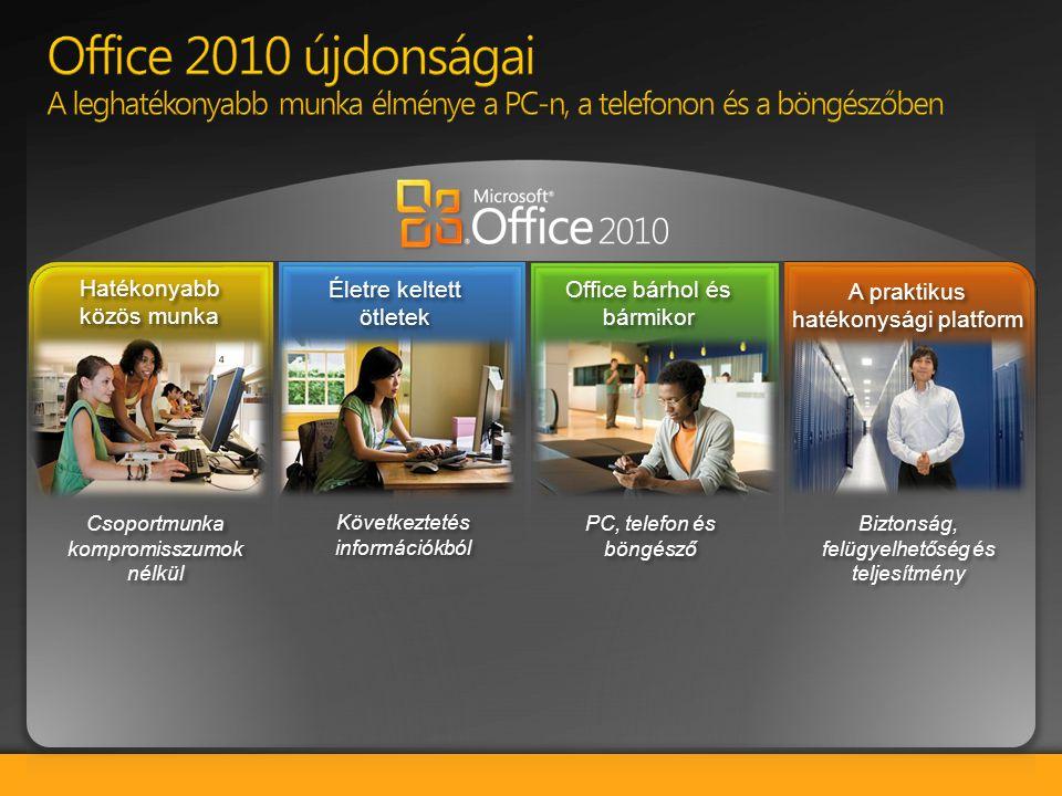 BPIO TDM Customer Deck 4/2/2017. Office 2010 újdonságai A leghatékonyabb munka élménye a PC-n, a telefonon és a böngészőben.