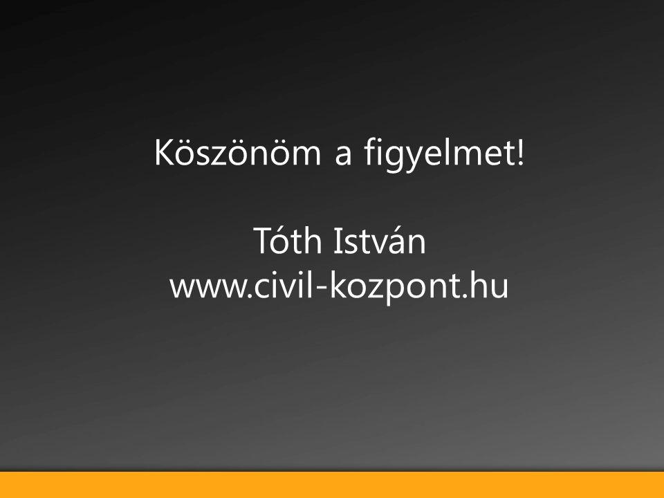 Köszönöm a figyelmet! Tóth István www.civil-kozpont.hu