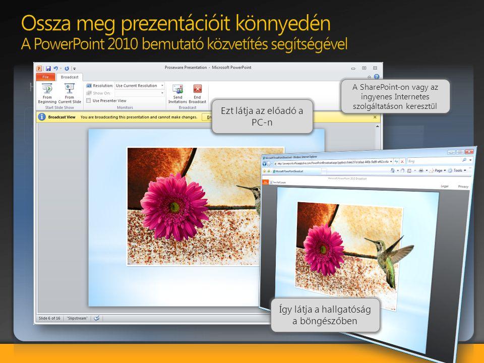 Ossza meg prezentációit könnyedén A PowerPoint 2010 bemutató közvetítés segítségével