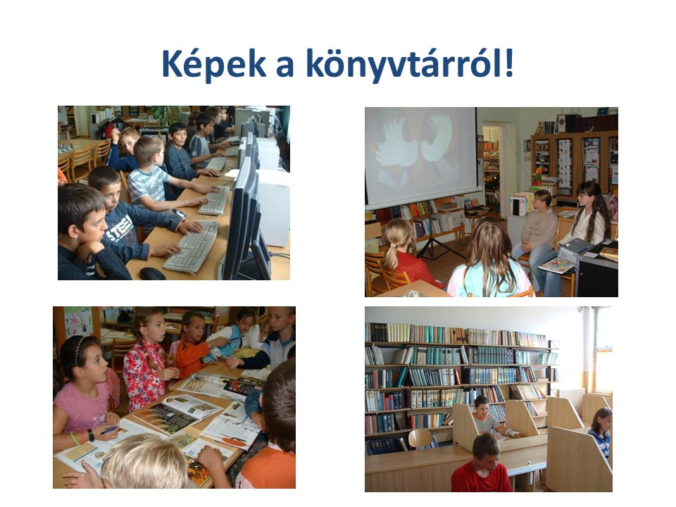Képek a könyvtárról!