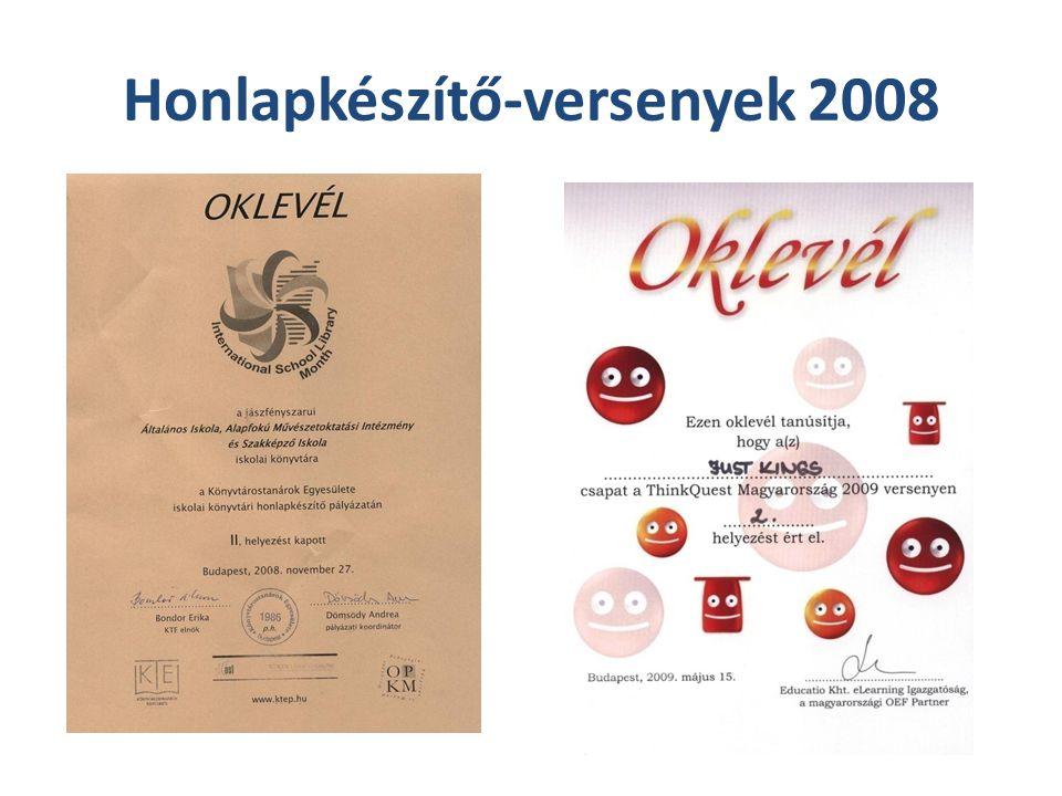 Honlapkészítő-versenyek 2008