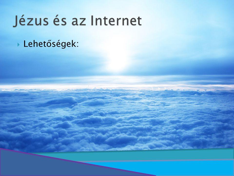 Jézus és az Internet Lehetőségek: