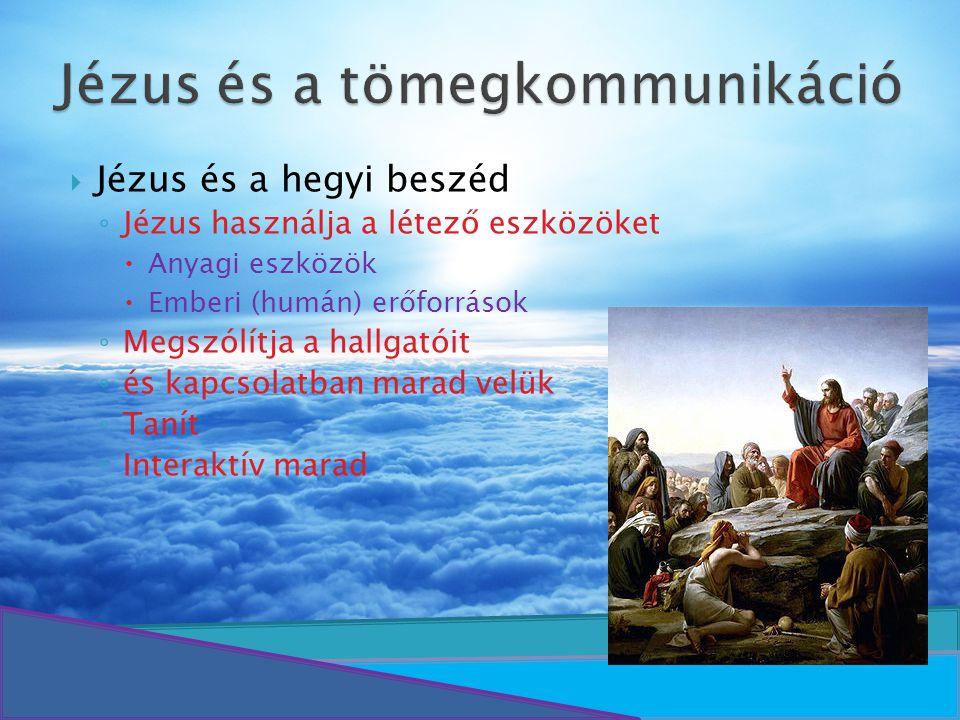 Jézus és a tömegkommunikáció