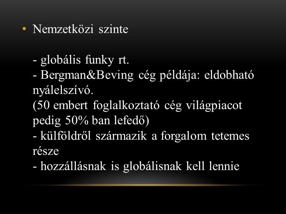 Nemzetközi szinte - globális funky rt