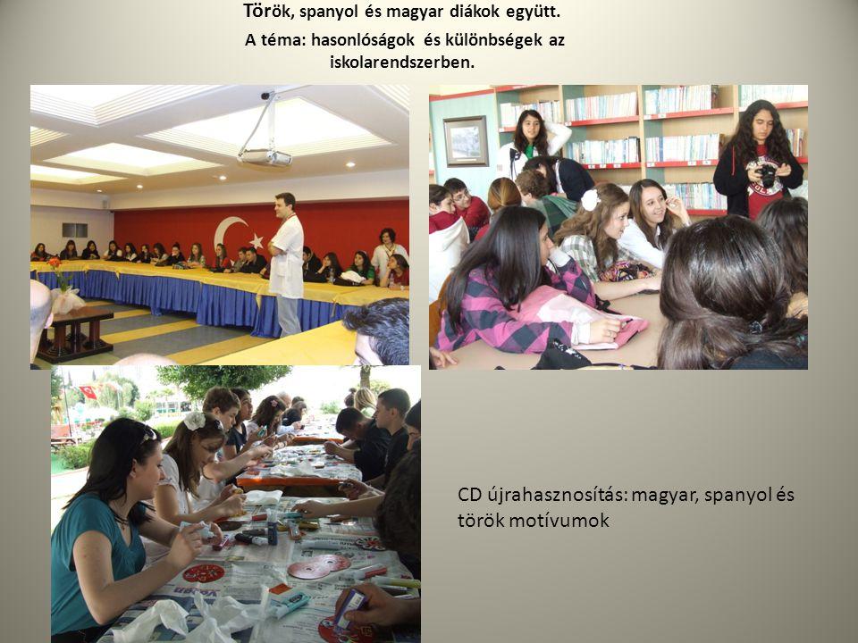 Török, spanyol és magyar diákok együtt.