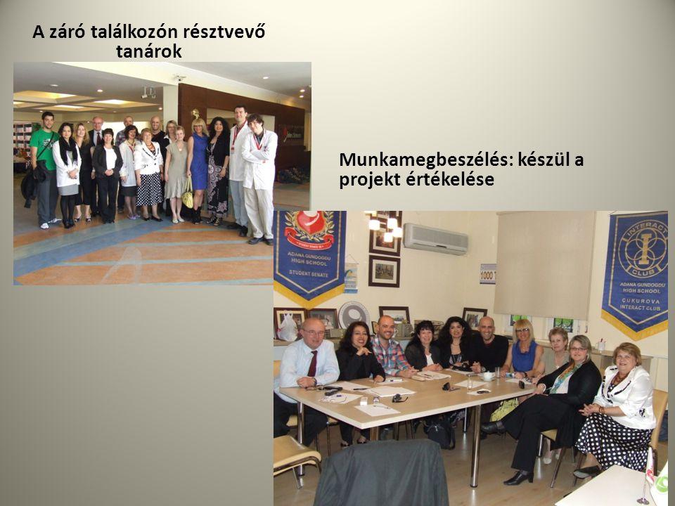 A záró találkozón résztvevő tanárok