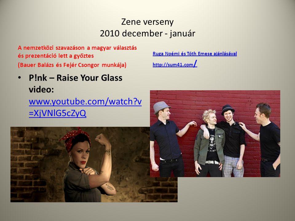 Zene verseny 2010 december - január