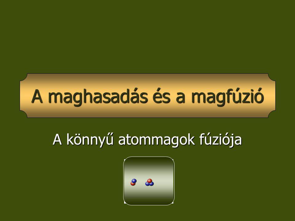 A könnyű atommagok fúziója