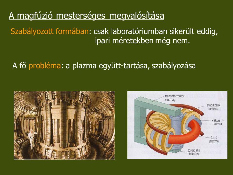 A magfúzió mesterséges megvalósítása