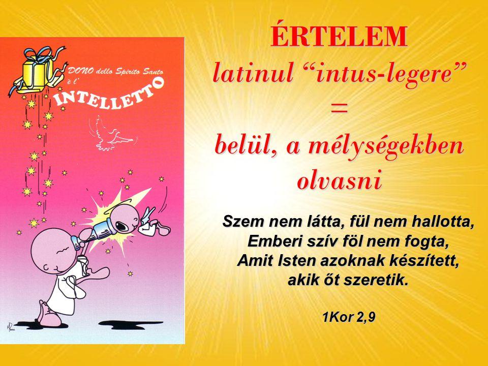 ÉRTELEM latinul intus-legere = belül, a mélységekben olvasni