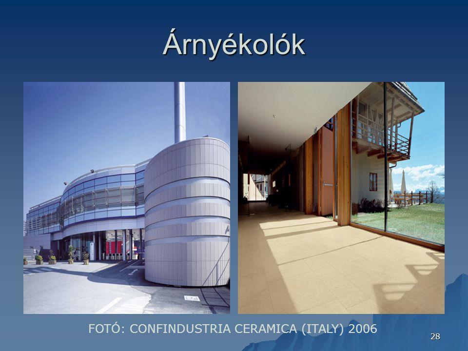 Árnyékolók FOTÓ: CONFINDUSTRIA CERAMICA (ITALY) 2006