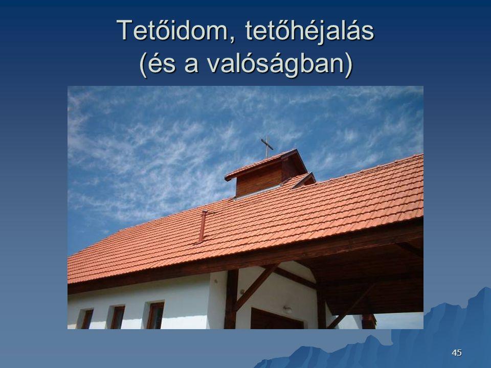 Tetőidom, tetőhéjalás (és a valóságban)