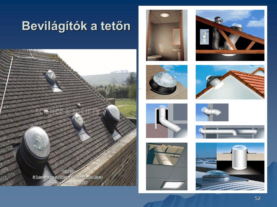 Bevilágítók a tetőn FOTÓ: CONFINDUSTRIA CERAMICA (ITALY) 2006