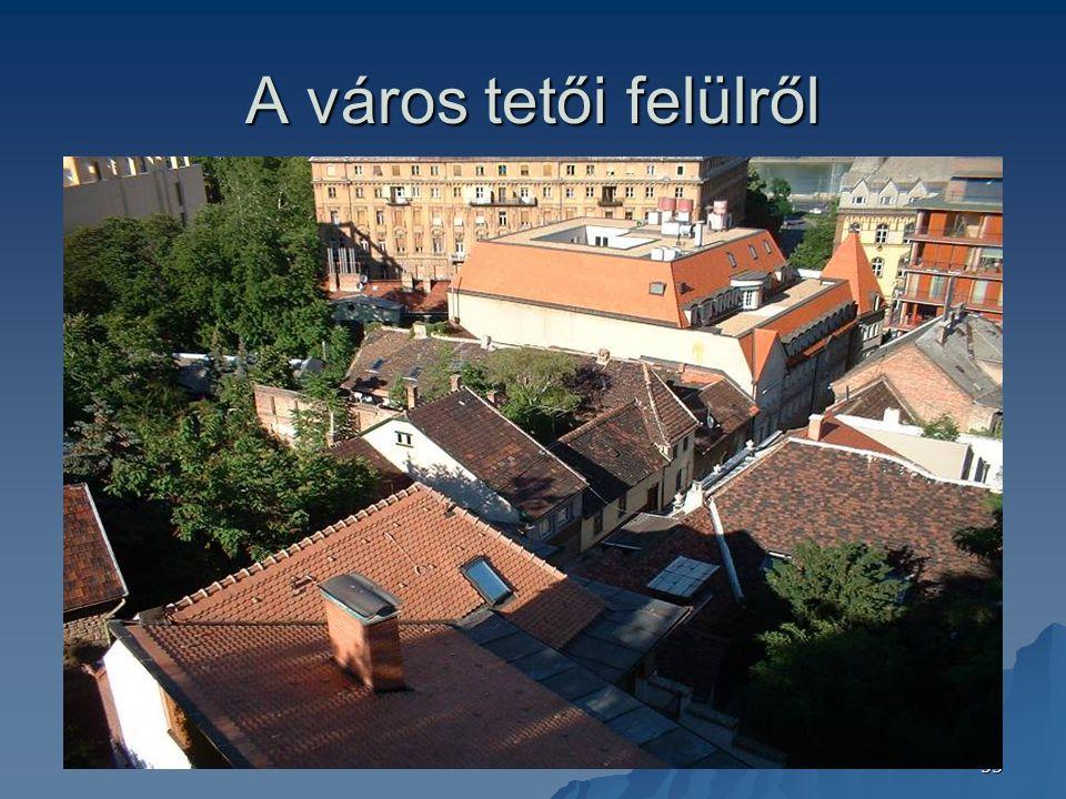 A város tetői felülről