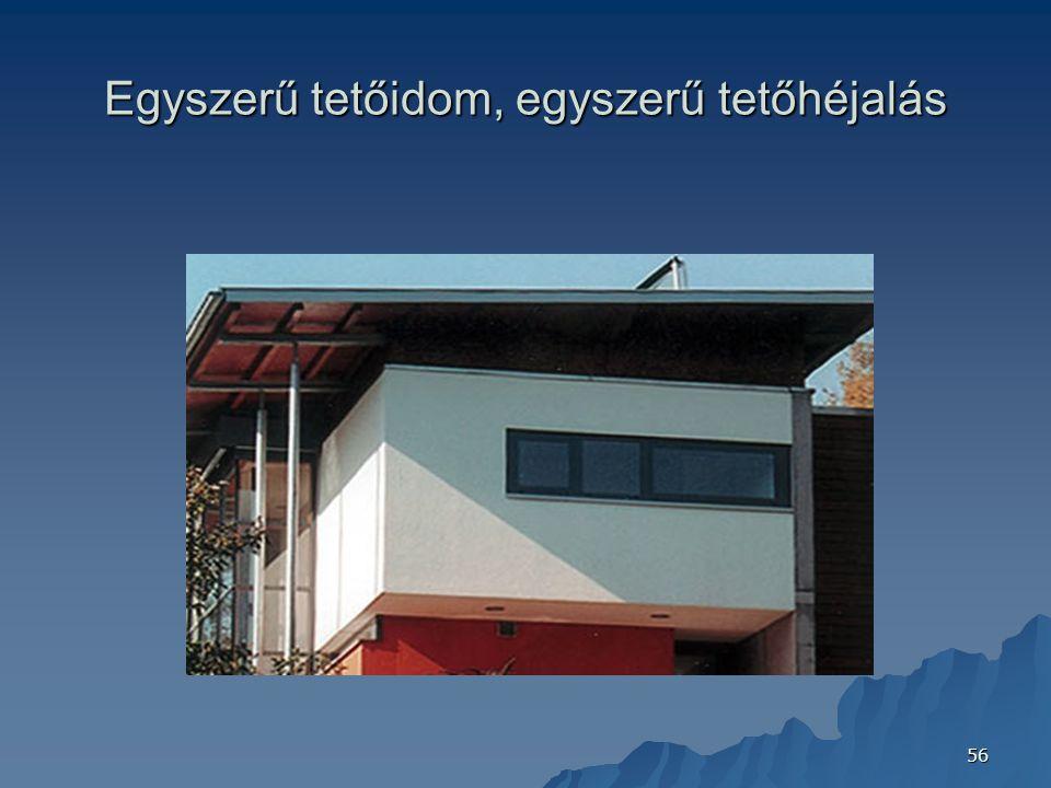 Egyszerű tetőidom, egyszerű tetőhéjalás