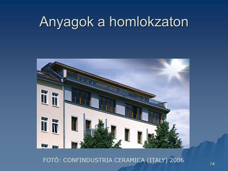 Anyagok a homlokzaton FOTÓ: CONFINDUSTRIA CERAMICA (ITALY) 2006