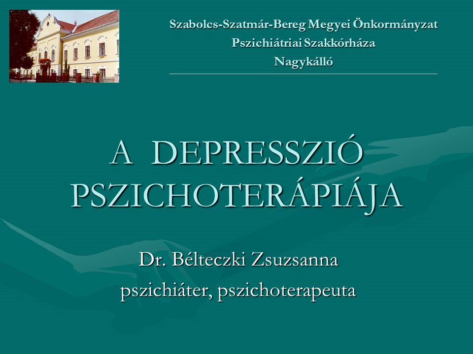 A DEPRESSZIÓ PSZICHOTERÁPIÁJA