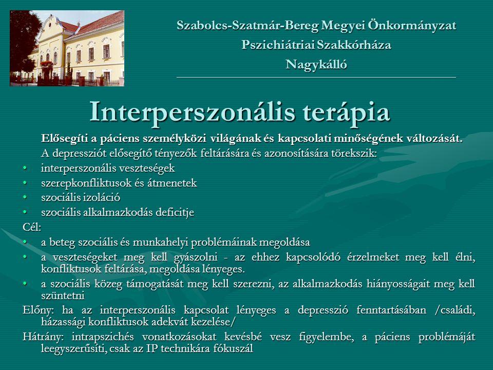 Interperszonális terápia