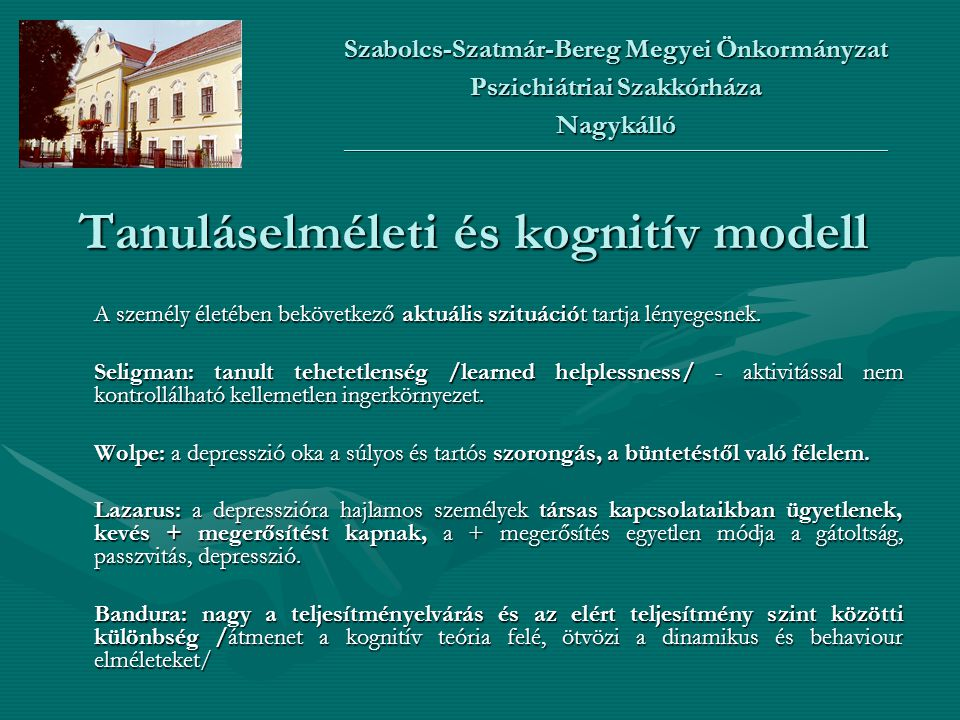 Tanuláselméleti és kognitív modell