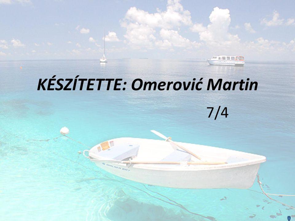 KÉSZÍTETTE: Omerović Martin