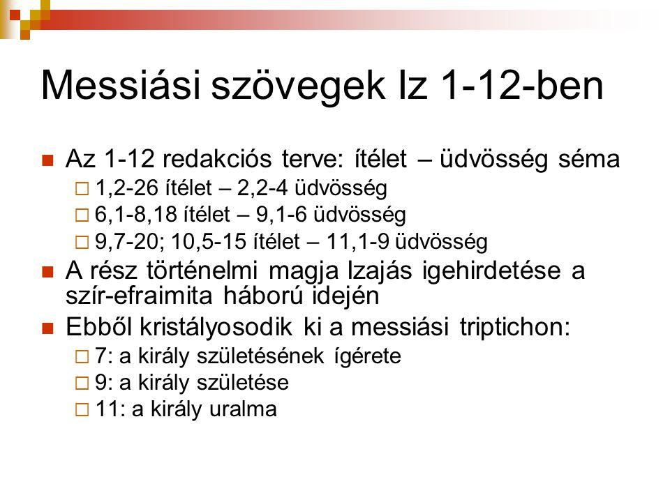 Messiási szövegek Iz 1-12-ben