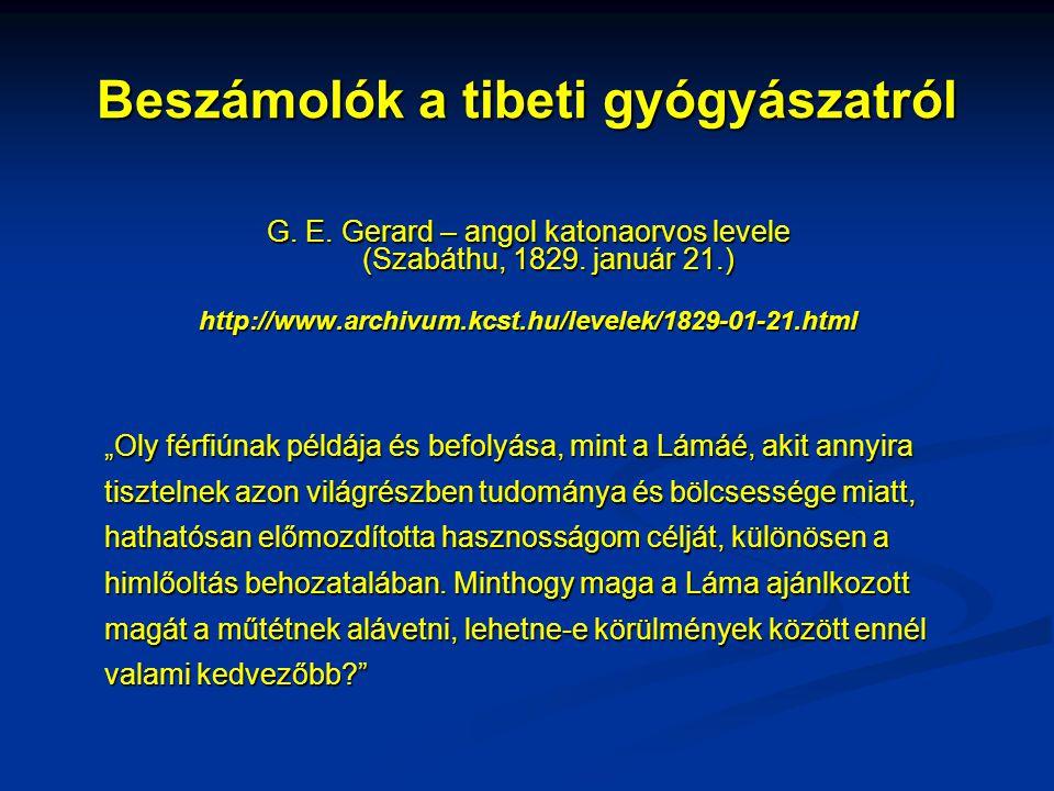 Beszámolók a tibeti gyógyászatról