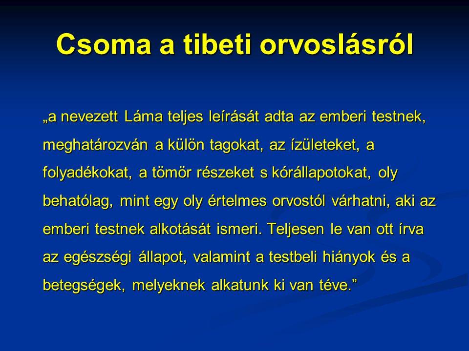 Csoma a tibeti orvoslásról