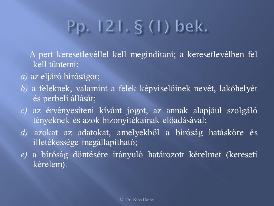 Pp. 121. § (1) bek.