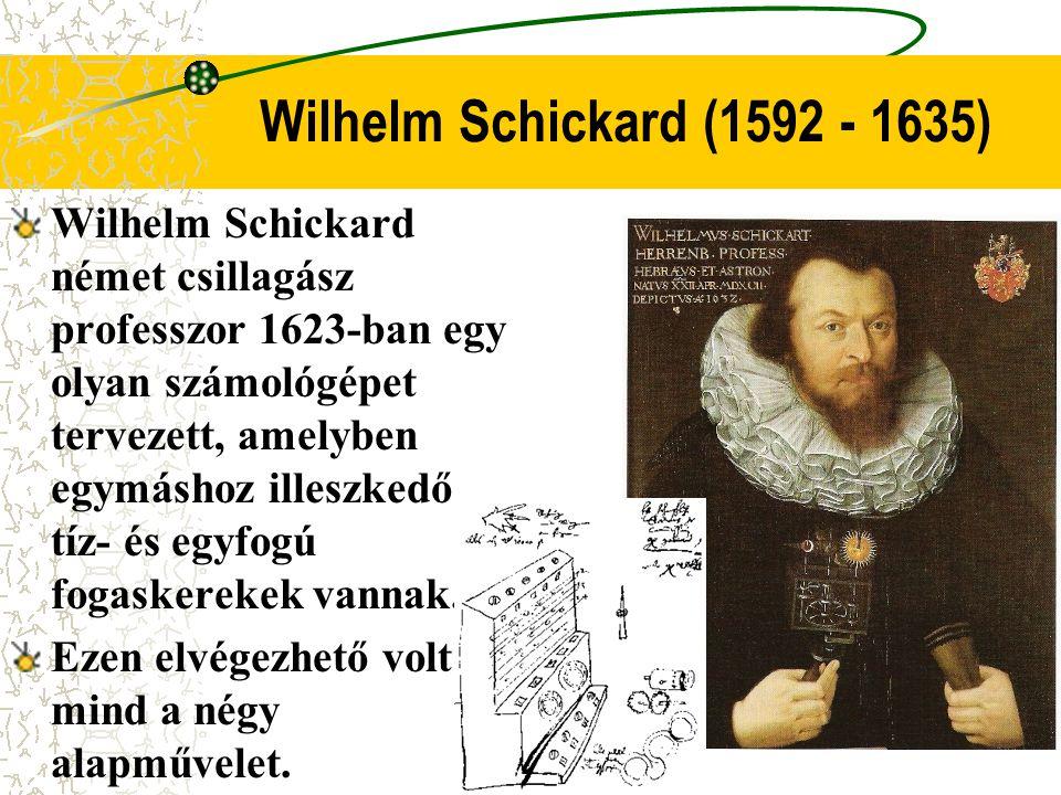 Wilhelm Schickard (1592 - 1635)