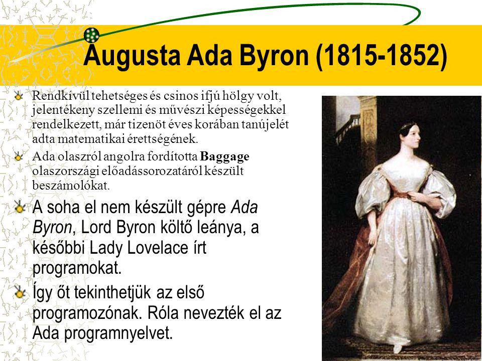 Augusta Ada Byron (1815-1852)
