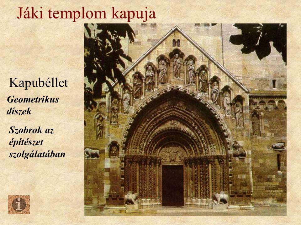 Jáki templom kapuja Kapubéllet Geometrikus díszek