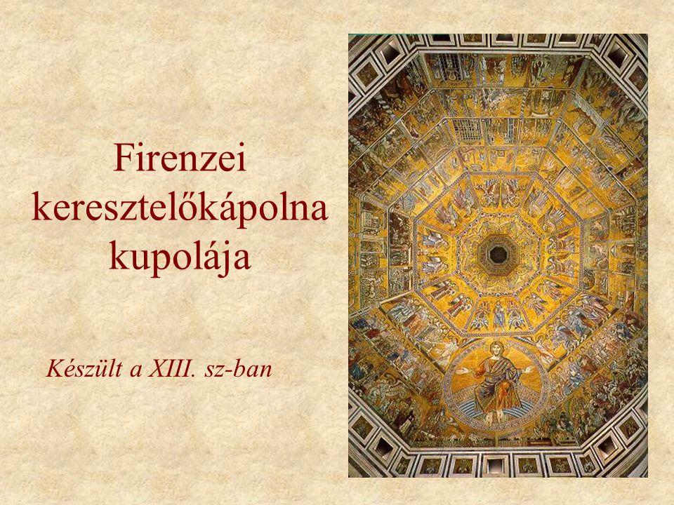 Firenzei keresztelőkápolna kupolája