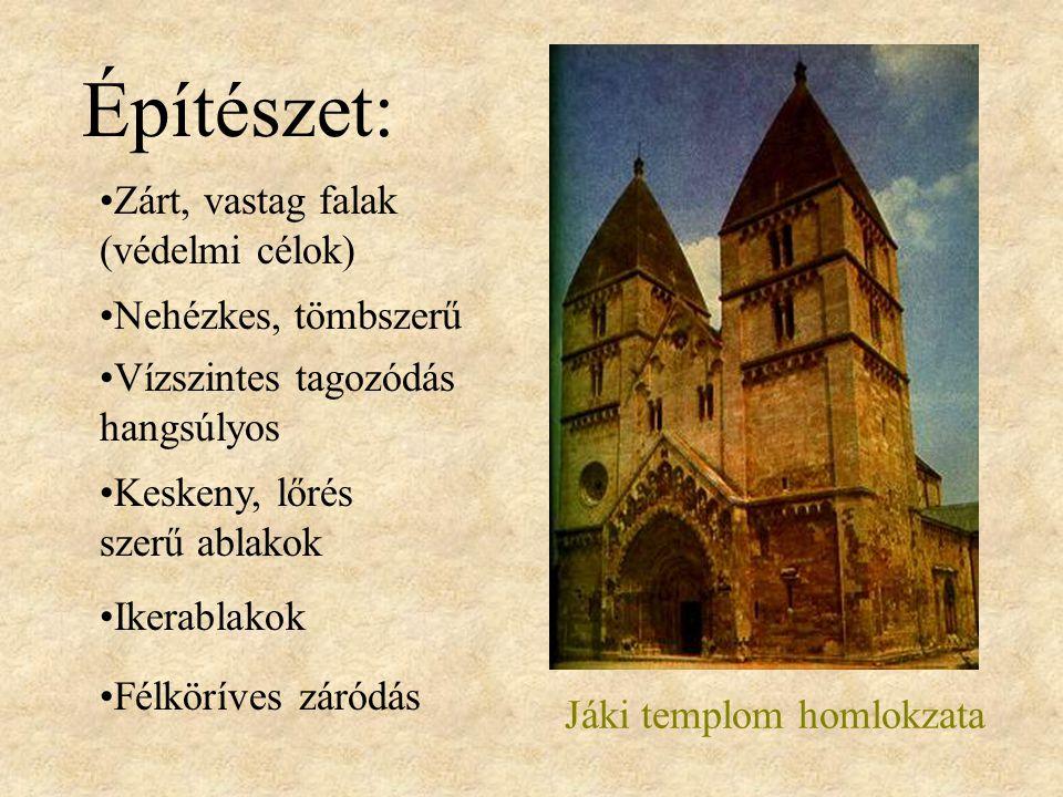 Jáki templom homlokzata