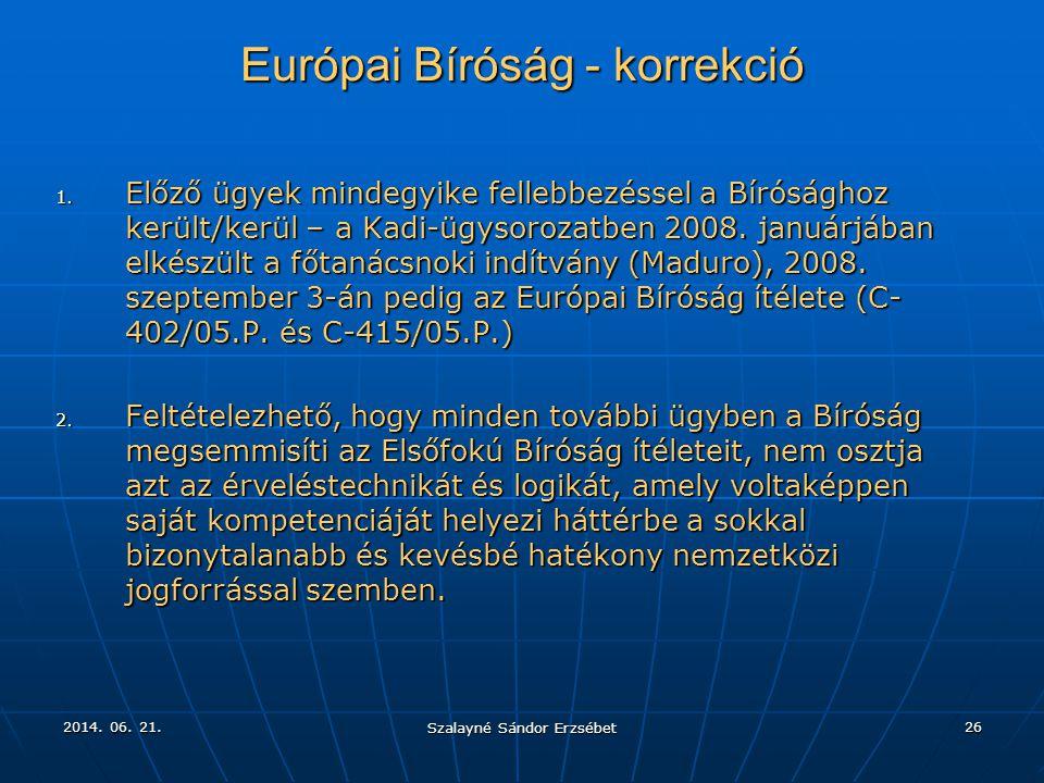 Európai Bíróság - korrekció